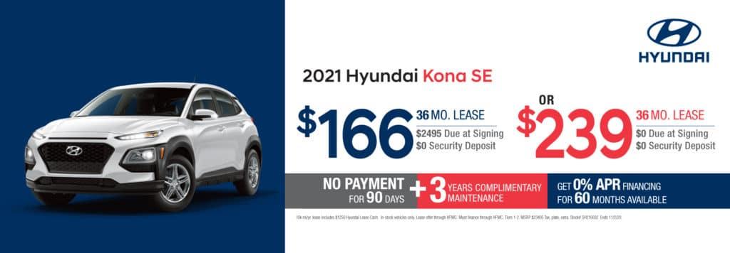 New 2021 Hyundai Kona SE