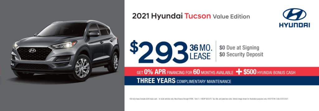New 2021 Hyundai Tucson Value Edition