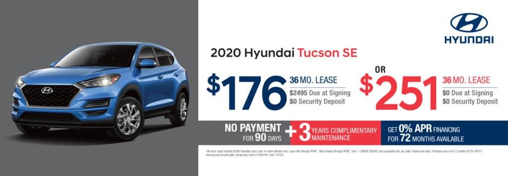 New 2020 Hyundai Tucson SE