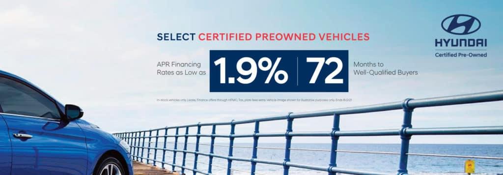Select Certified Preowned Hyundai Financing