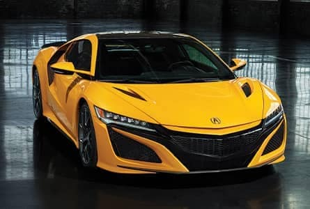 Yellow Acura NSX