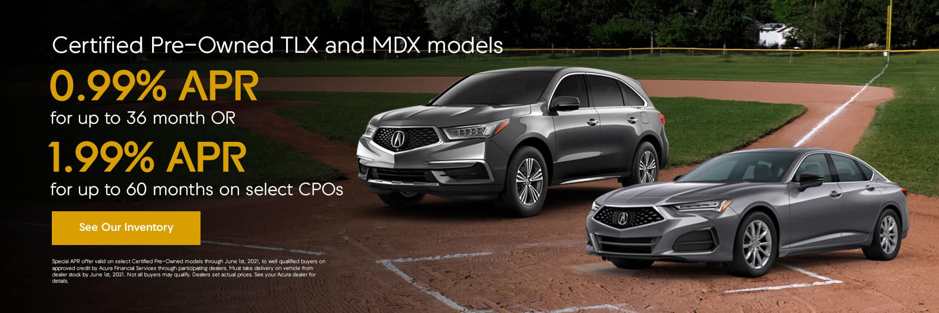 Certified Pre-Owned TLX and MDX models