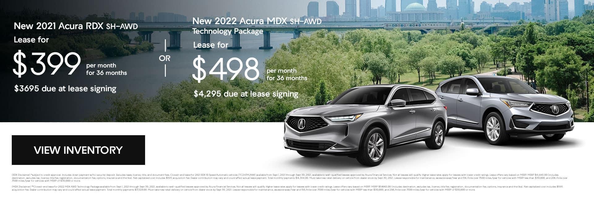 new 2021 Acura RDX SH-AWD/ new 2021 Acura MDX