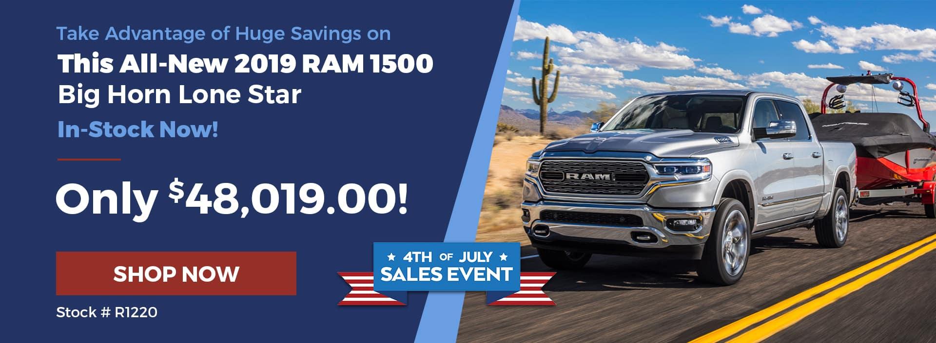 2019 RAM 1500 July 4th Offer
