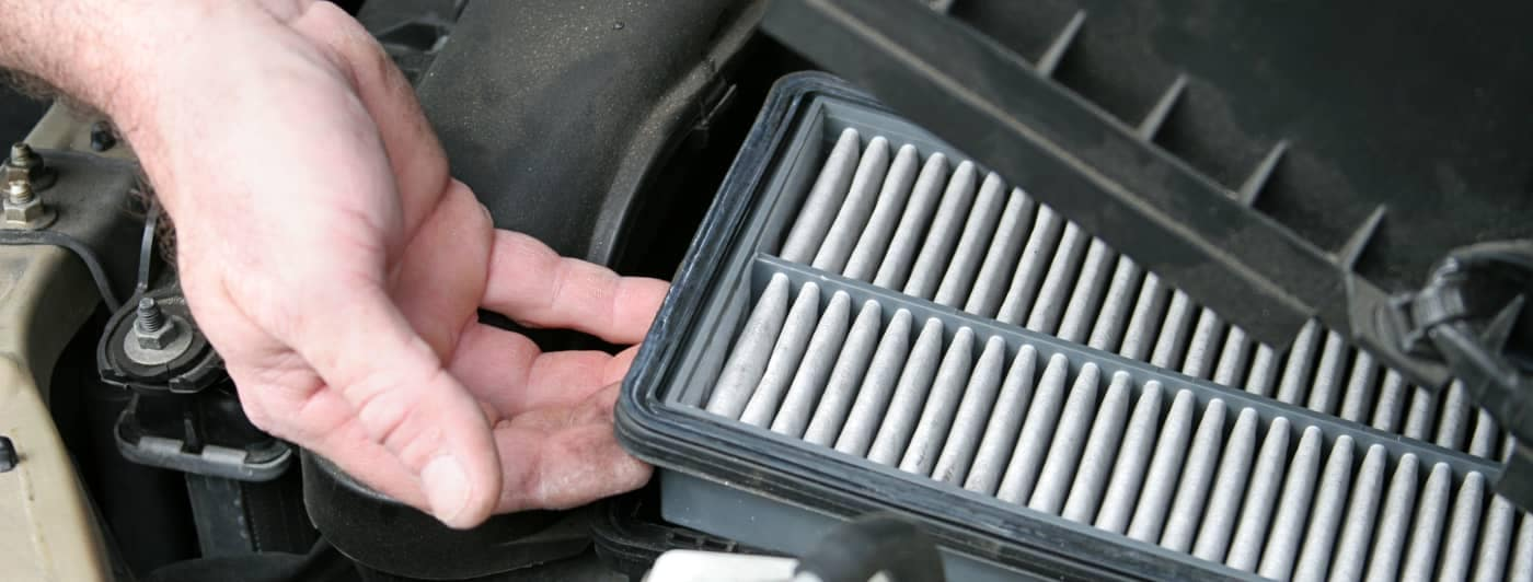 checking air filter