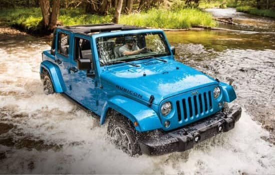 2018 Jeep Wrangler JK wading through water