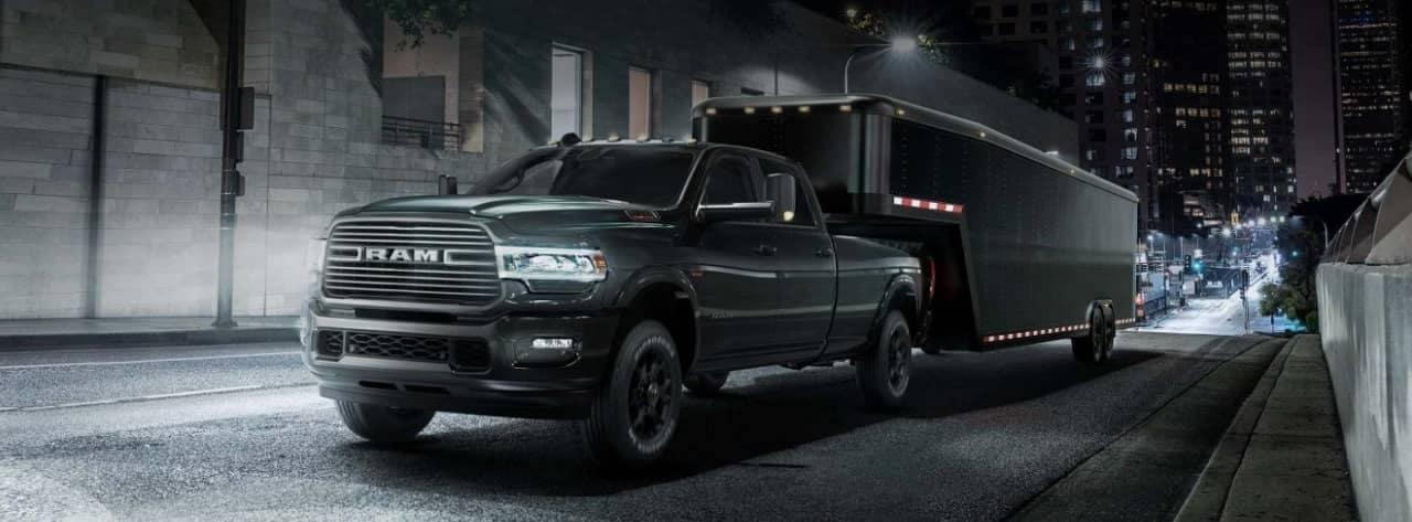 2019 Ram 2500 towing large trailer