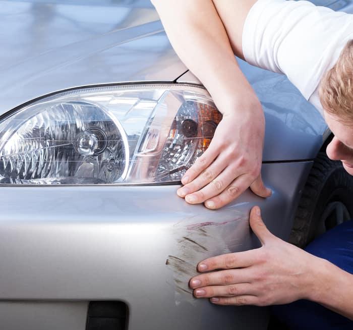 fixing a car scratch
