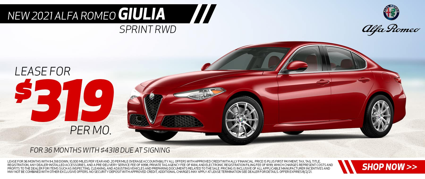 New 2021 Alfa Romeo Giulia Sprint RWD