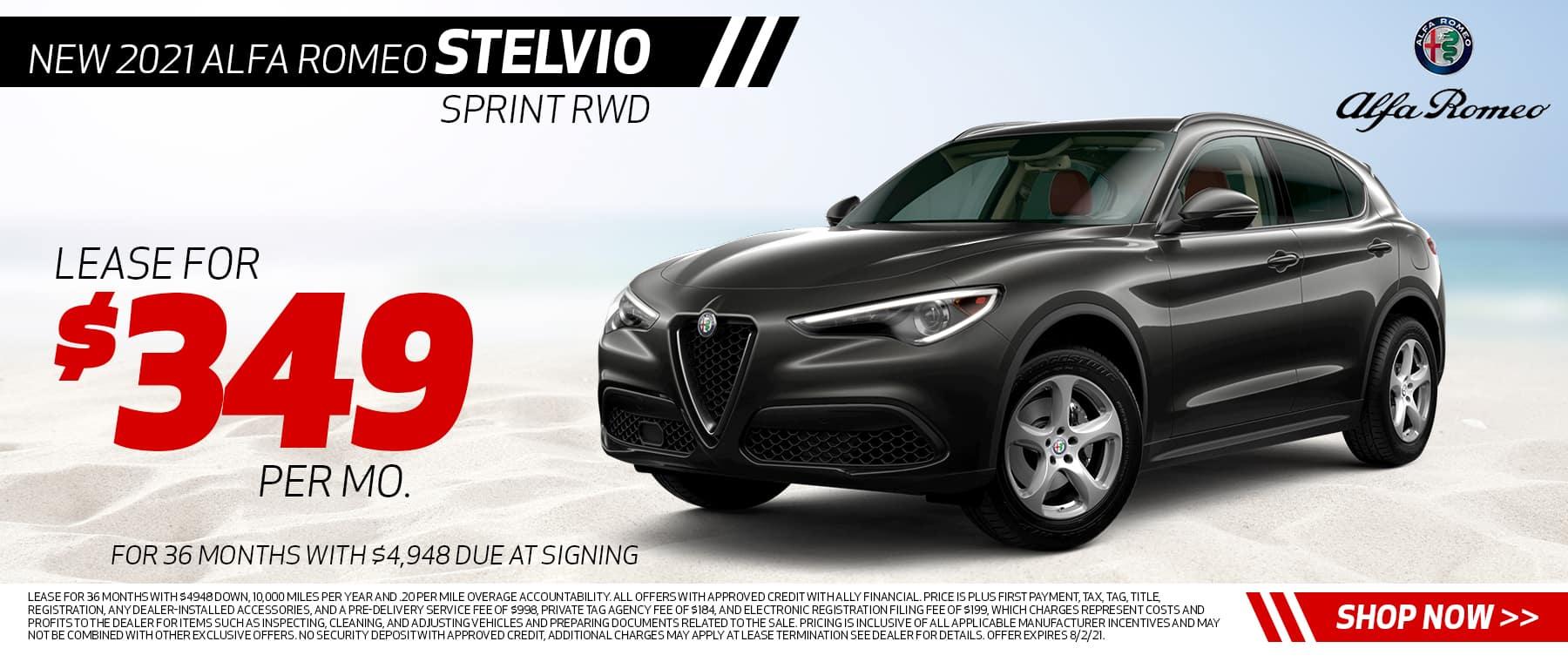 New 2021 Alfa Romeo Stelvio Sprint RWD