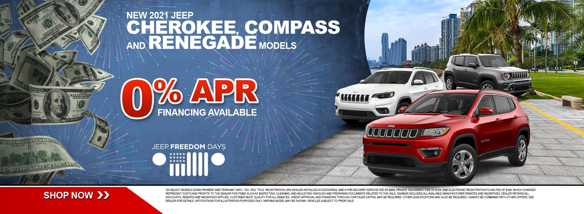Jeep Cherokee, Compass, Renegade