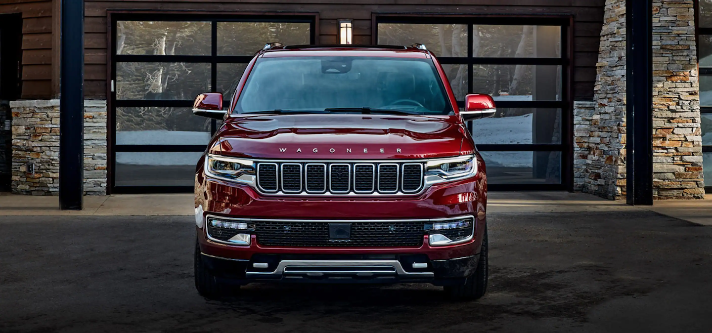The front of the all-new 2022 Jeep Wagoneer available in Fort Pierce.
