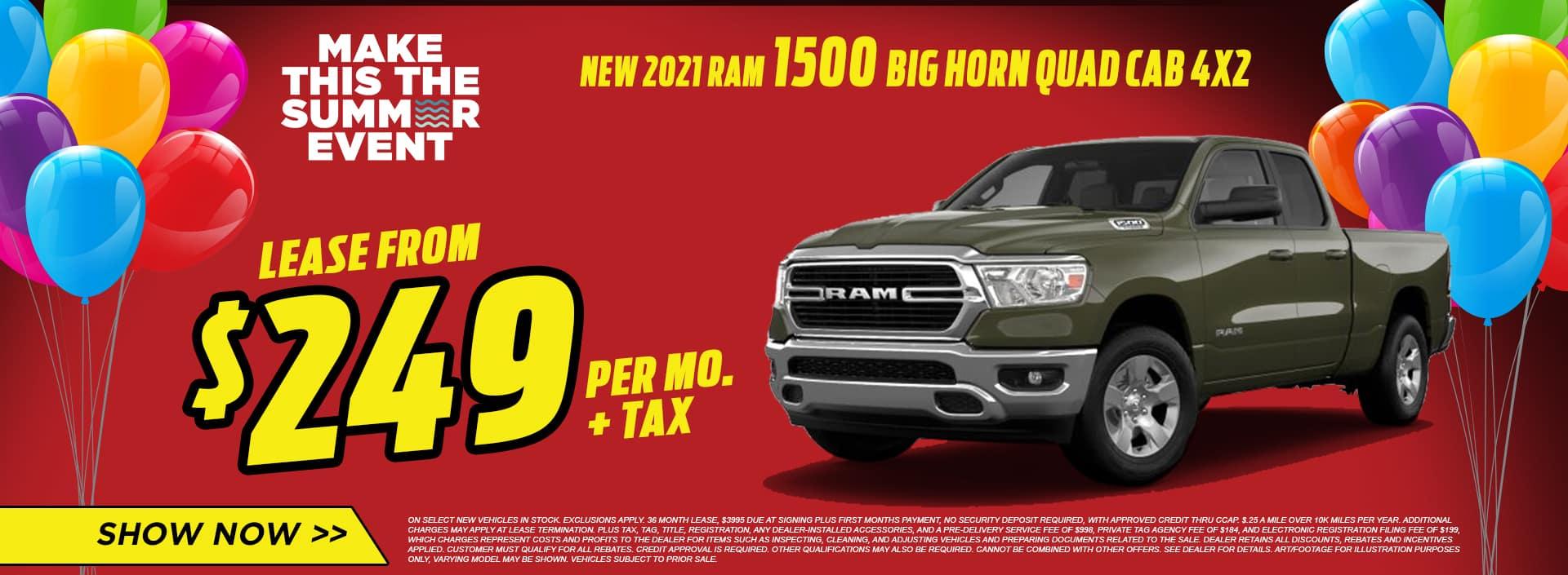 NEW 2021 RAM 1500 BIG HORN QUAD CAB 4X2