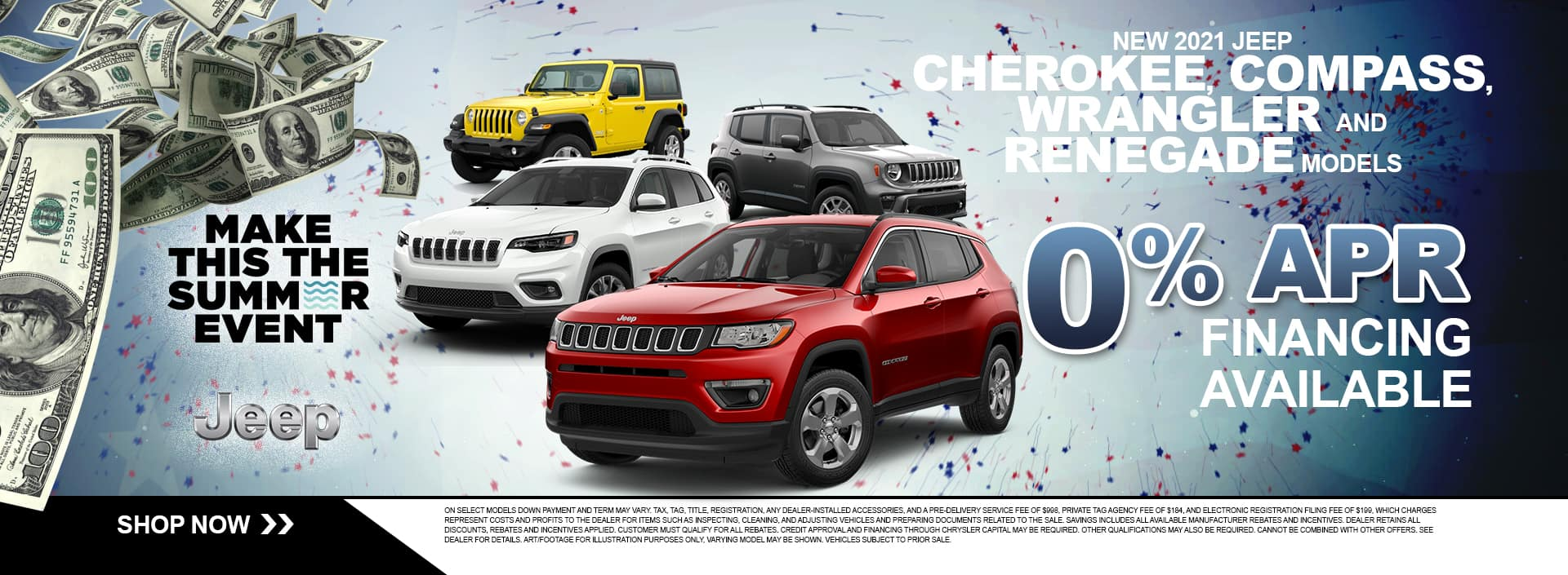NEW 2021 JEEP CHEROKEE, COMPASS, WRANGLER AND RENEGADE MODELS