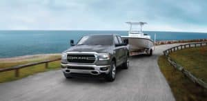 Ram 1500 Truck Towing Boat