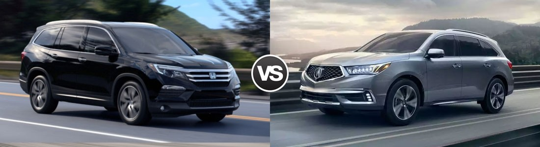 Compare 2017 honda pilot vs acura mdx tewksbury ma for Acura mdx vs honda pilot