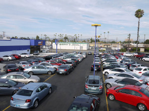 dealership lot
