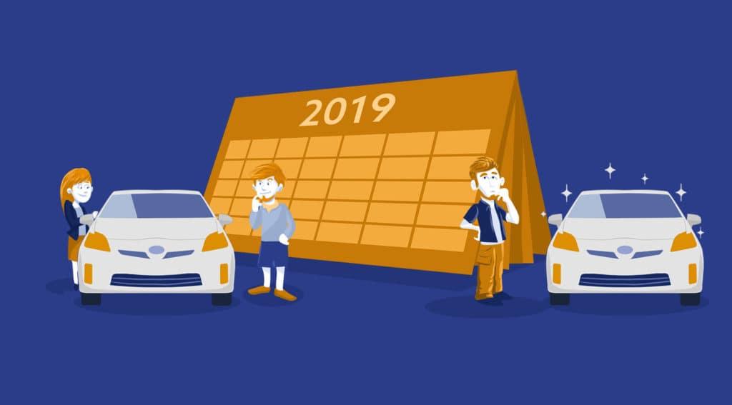 used vs new cars in 2019