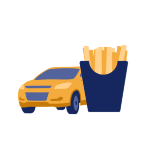 food delivery driving