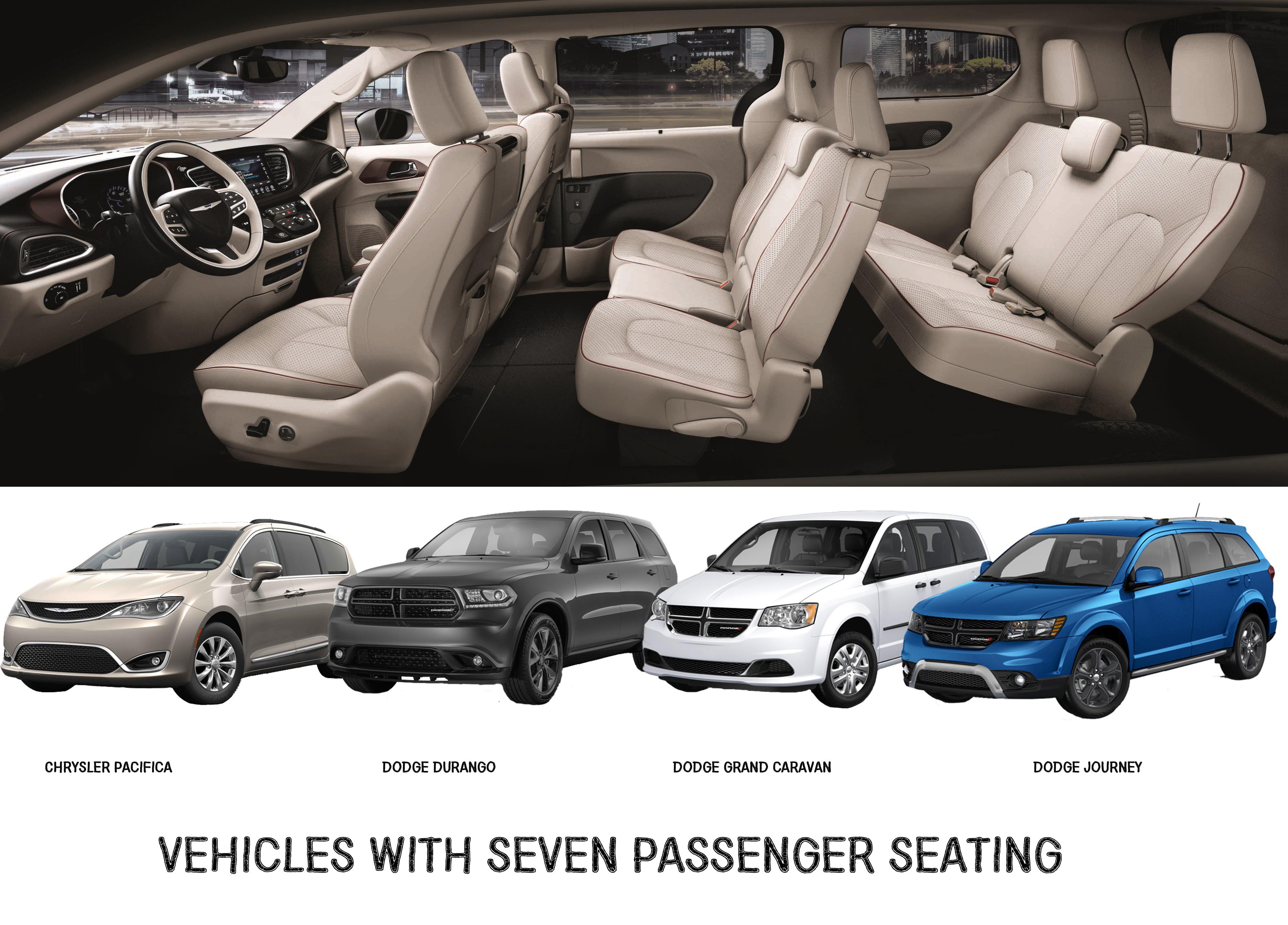 7 Passenger Seating Vehicles Dodge And Chrysler Aventura Chrysler Jeep Dodge Ram