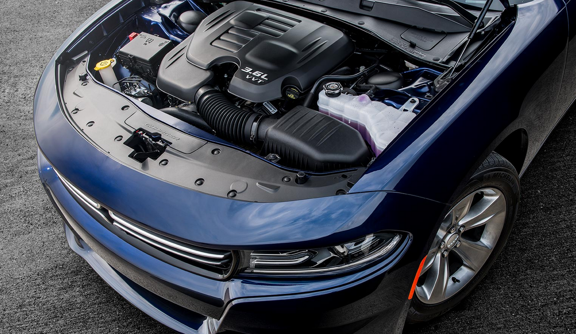 Under The Hood Of A Dodge Charger Aventura Chrysler Jeep