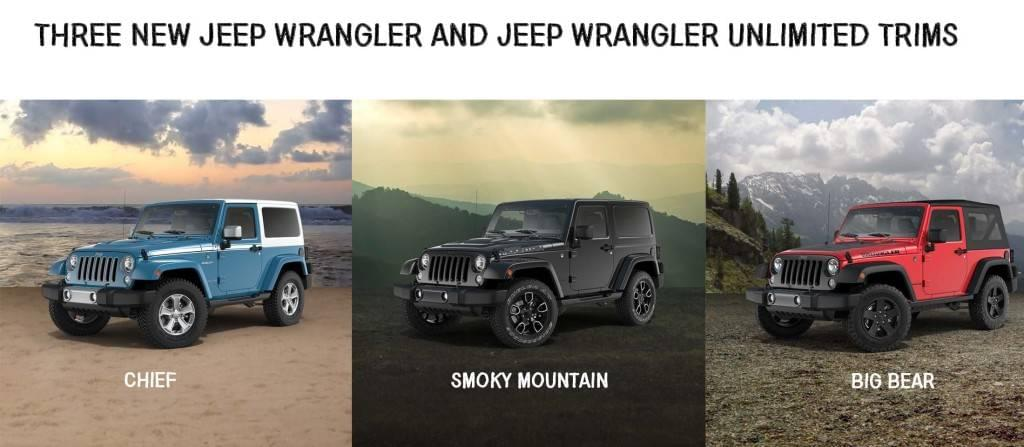 Aventura Three New Jeep Wrangler Unlimited Trims