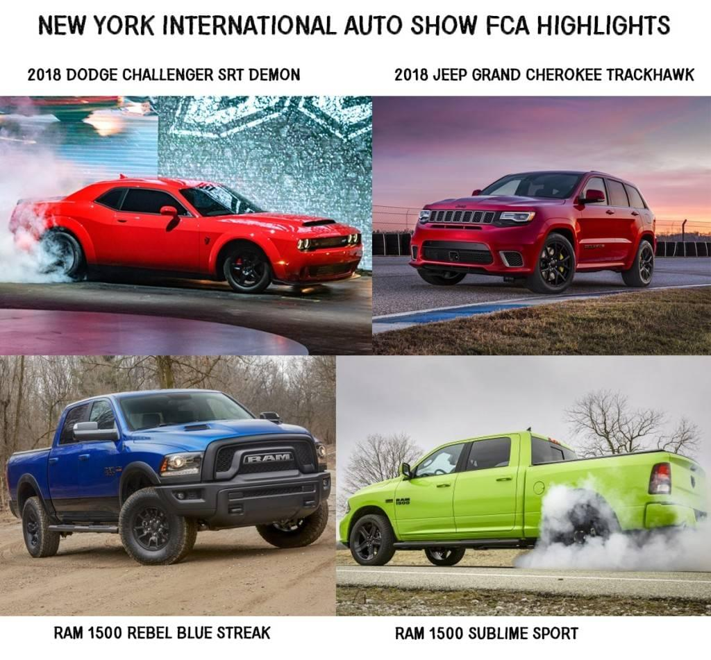 Aventura 2017 NYIAS Dodge Demon Grand Cherokee Trackhawk Ram Rebel Sport