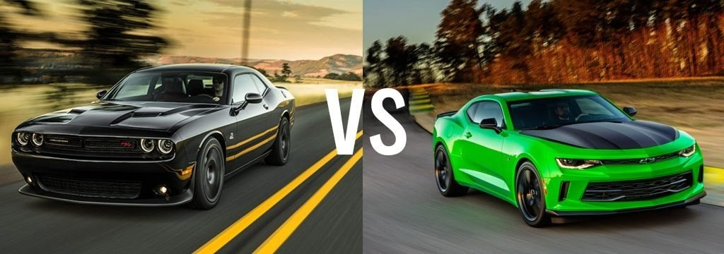 dodge challenger v. chevrolet camaro - which muscle car is for you?