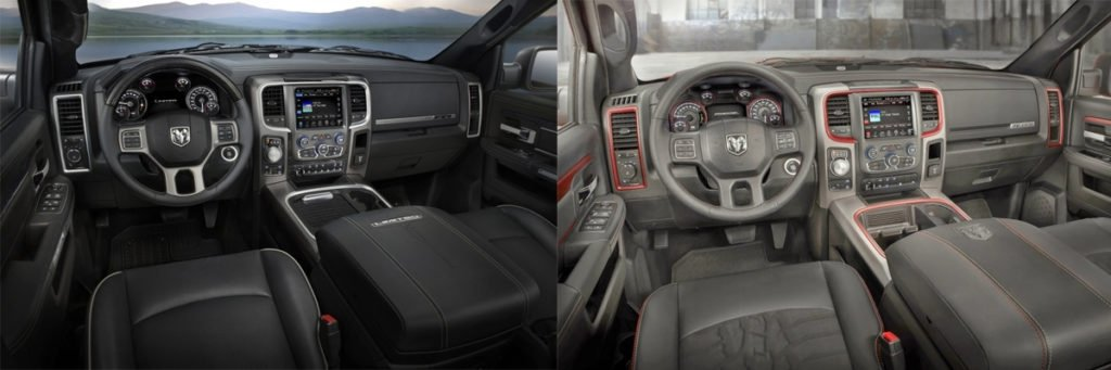 Aventura Ram 1500 Rebel Differences Interior