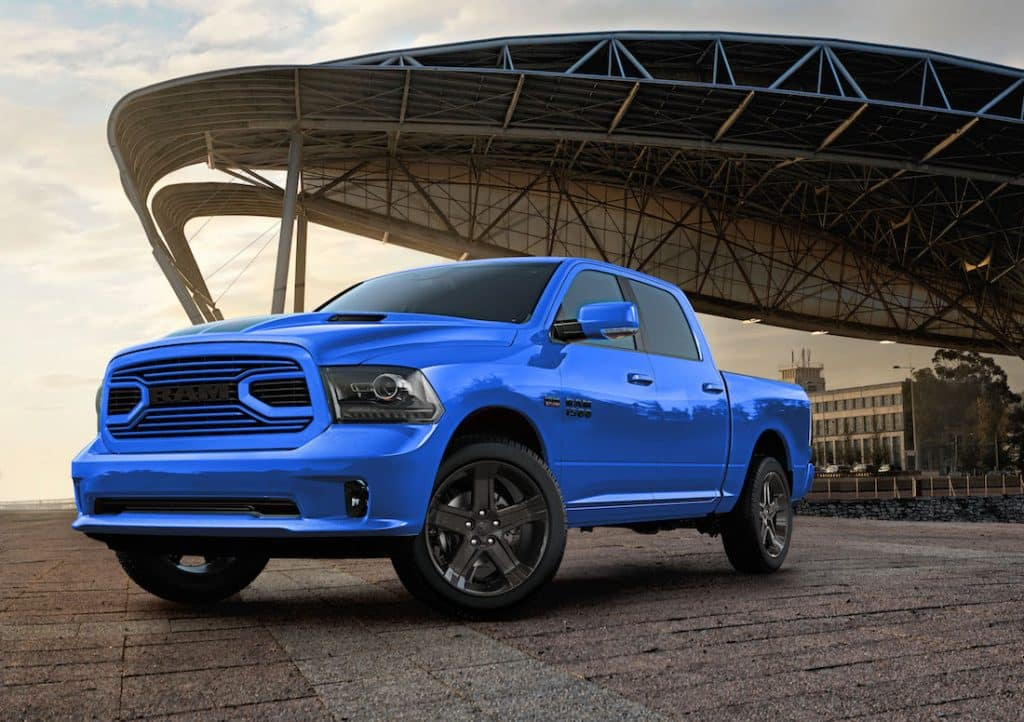 Dodge Sport Truck >> Introducing The New 2018 Ram Hydro Blue Sport