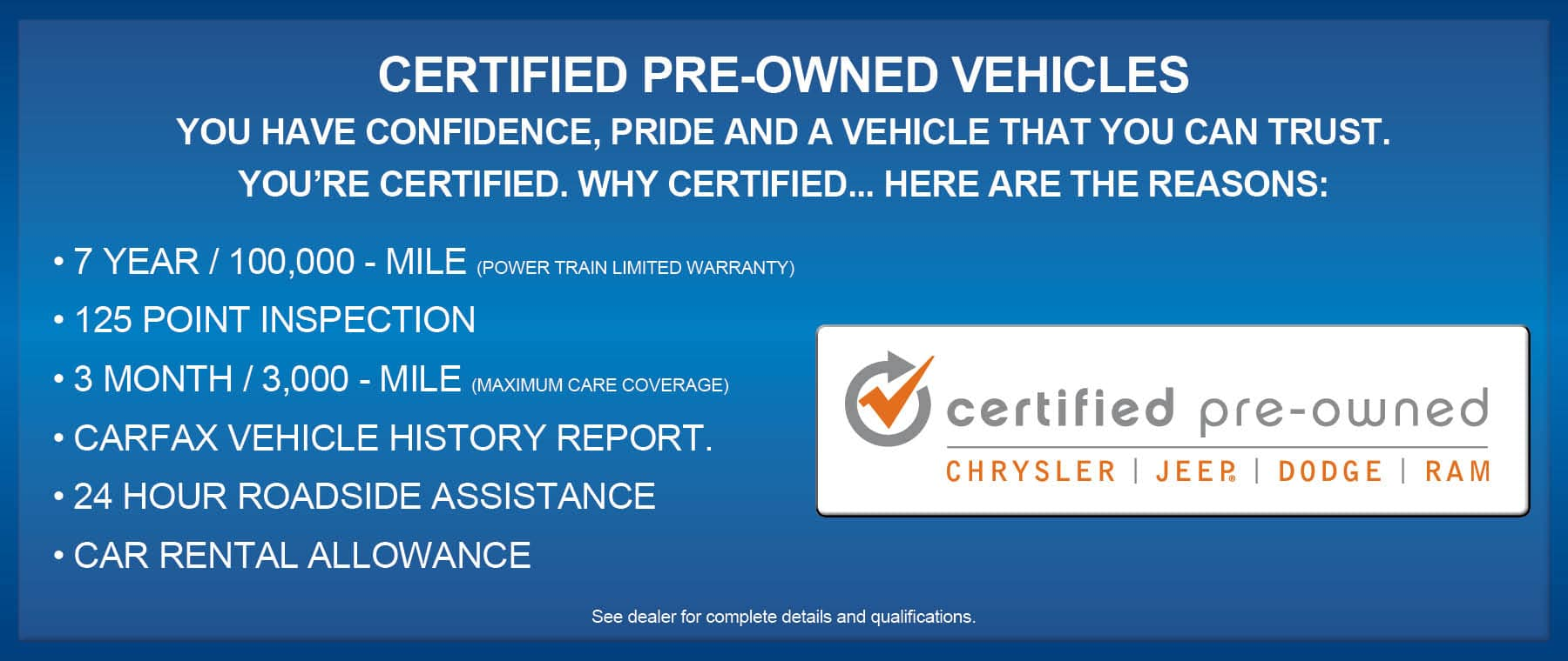 Certified PreOwned - Aventura Chrysler Jeep Dodge Ram!