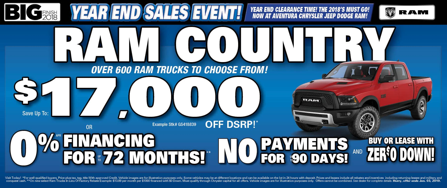 Sae Up to $17,000 On New Ram Trucks! - Ram Country