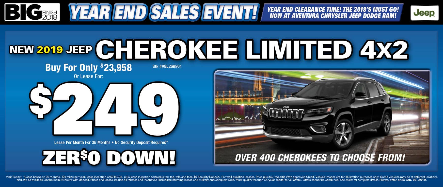 New Jeep Cherokees!