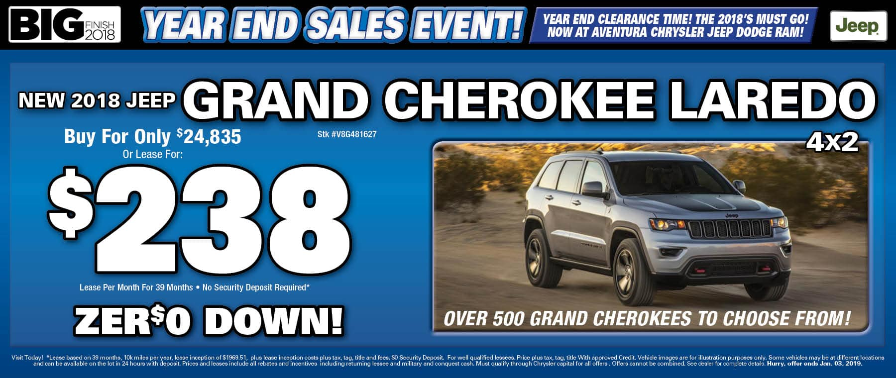 New Jeep Grand Cherokees!