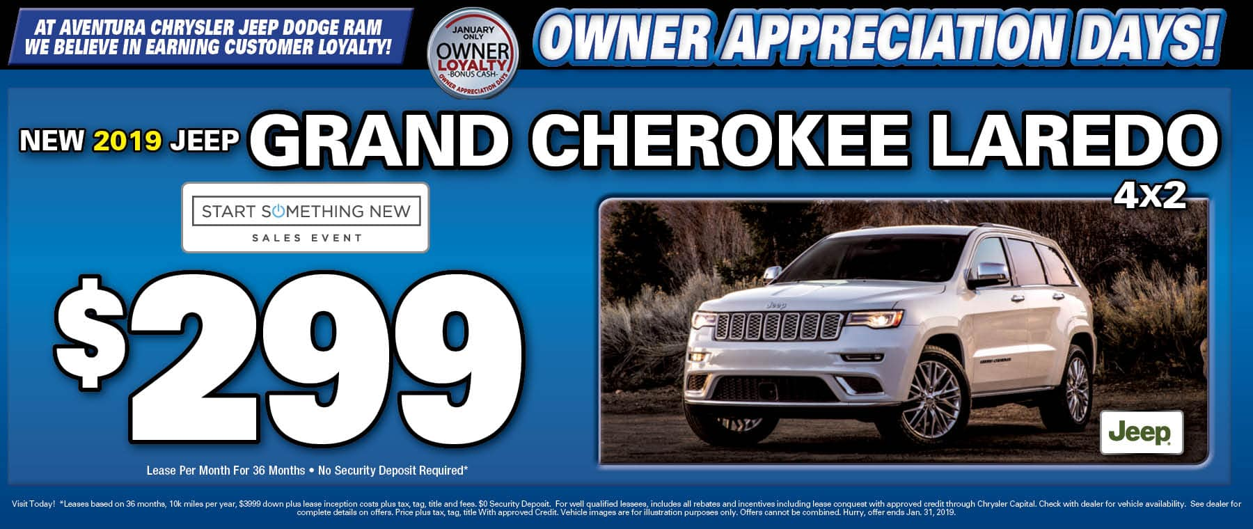 2019 Jeep Grand Cherokee Laredo! - Aventura Chrysler Jeep Dodge RAM!