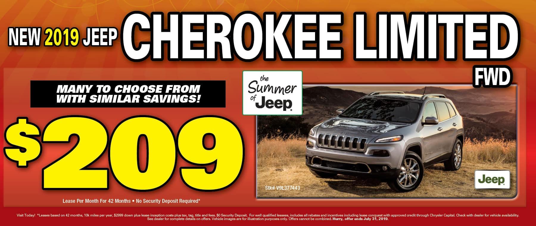 2019 Jeep Cherokees!