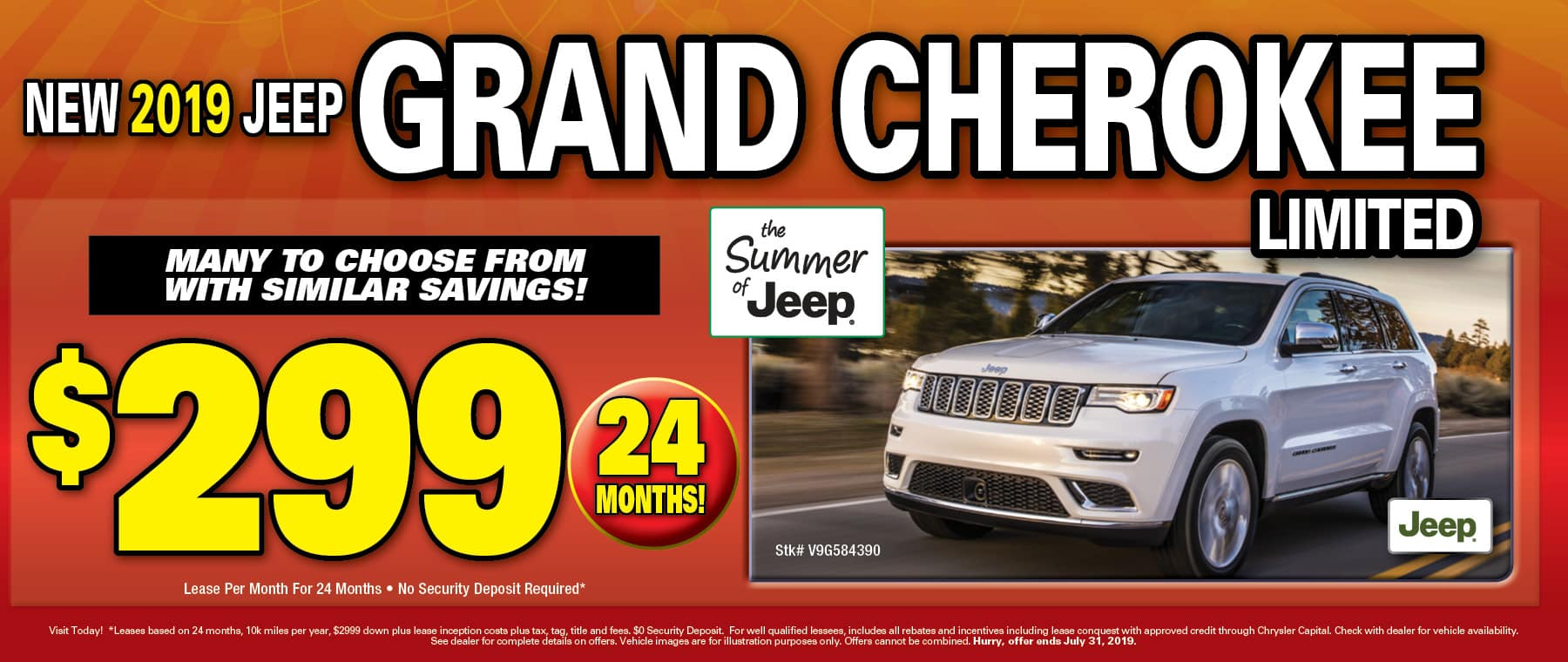 2019 Jeep Grand Cherokees!