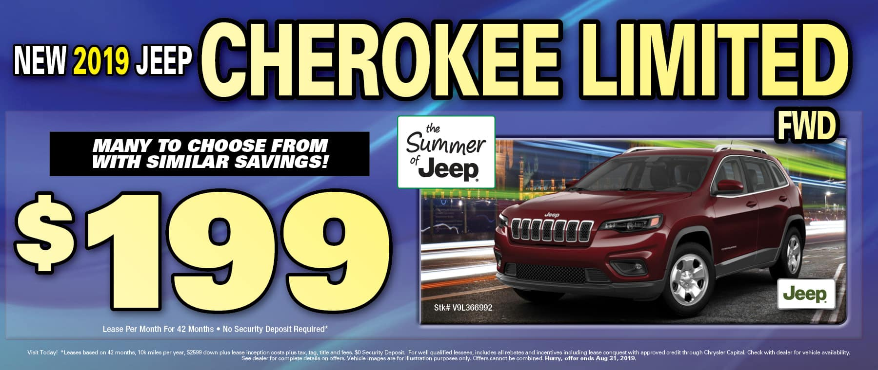 New 2019 Jeep Cherokees!