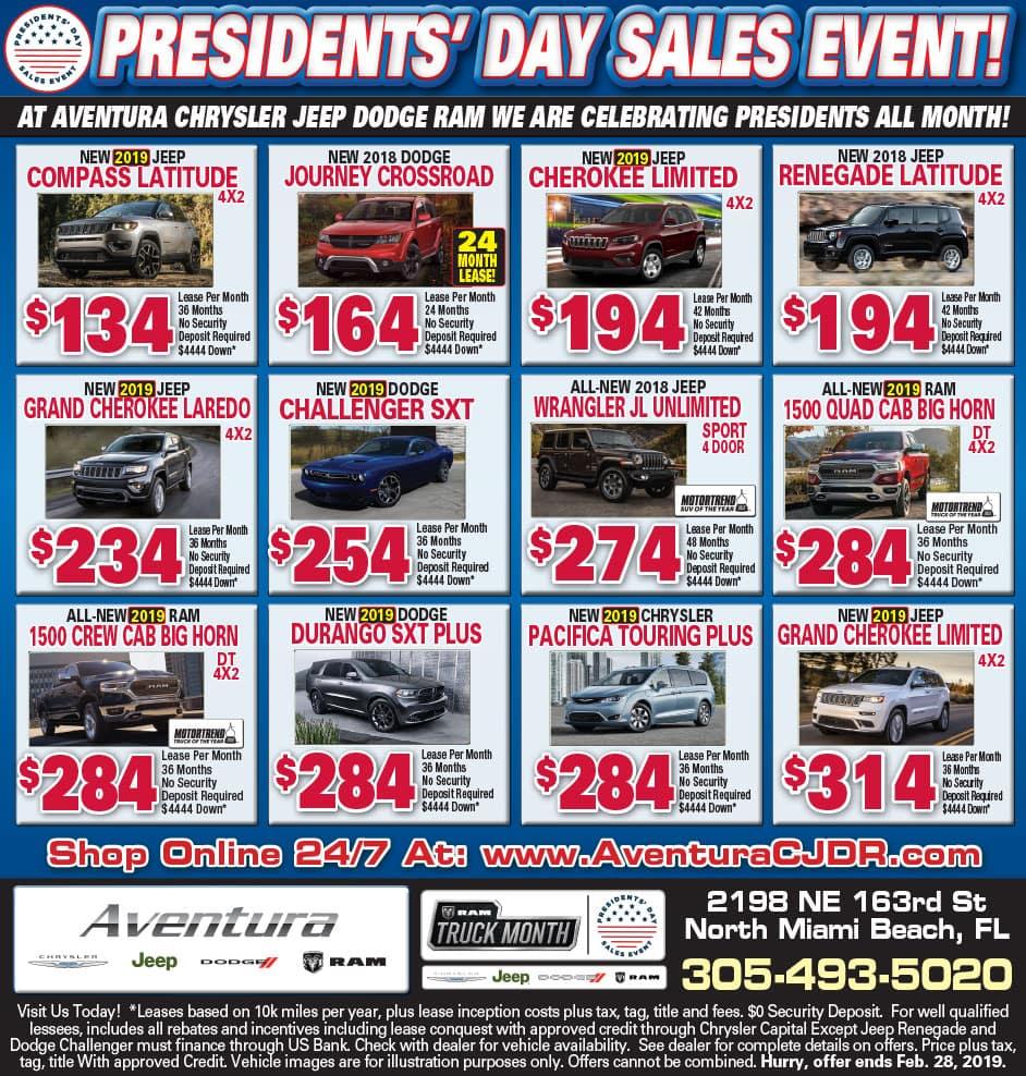 Aventura Chrysler Weekly Specials!