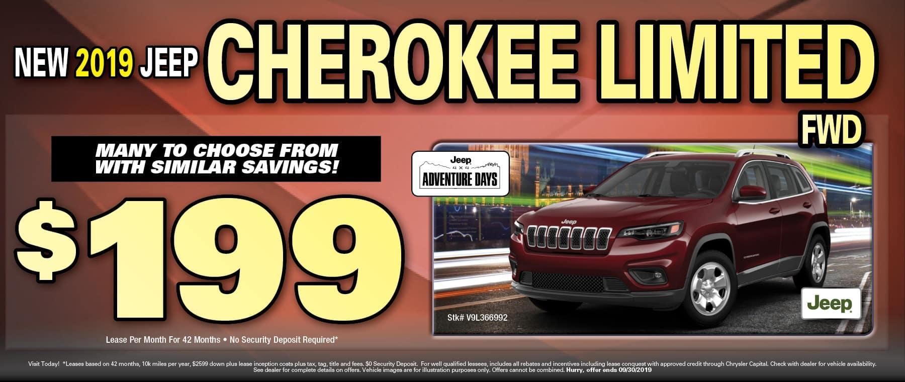 Cherokee $199 lease