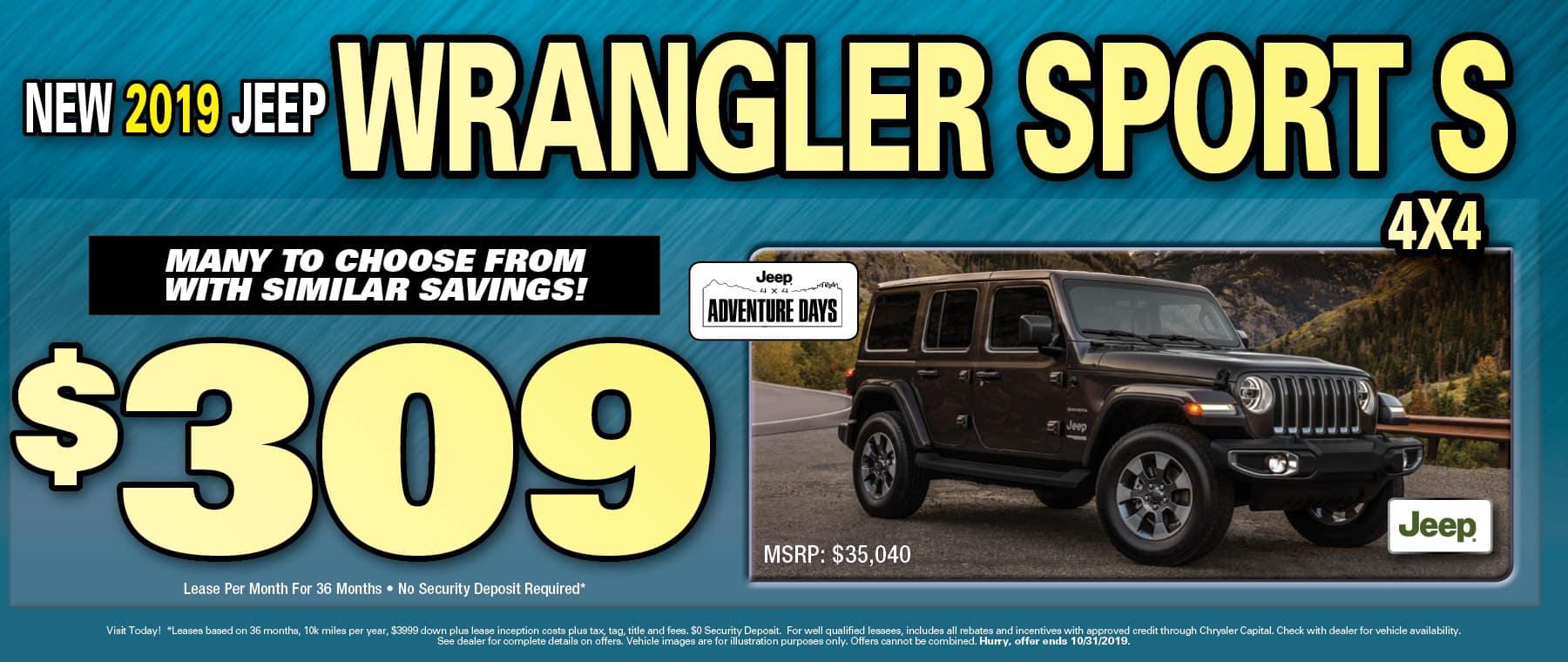 Wrangler $309 Lease