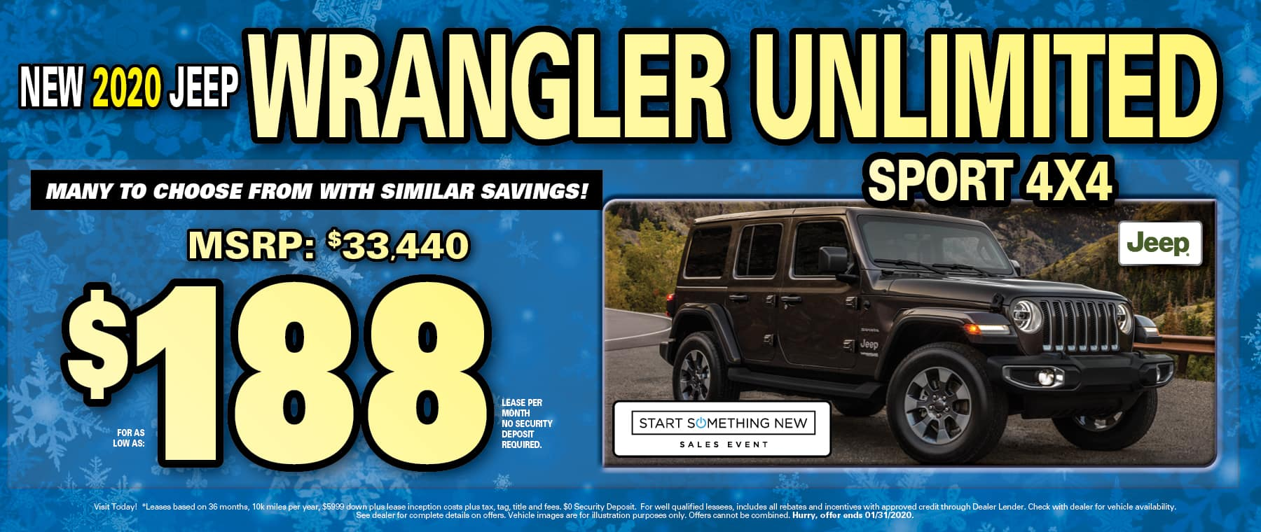 Wrangler $188 Lease