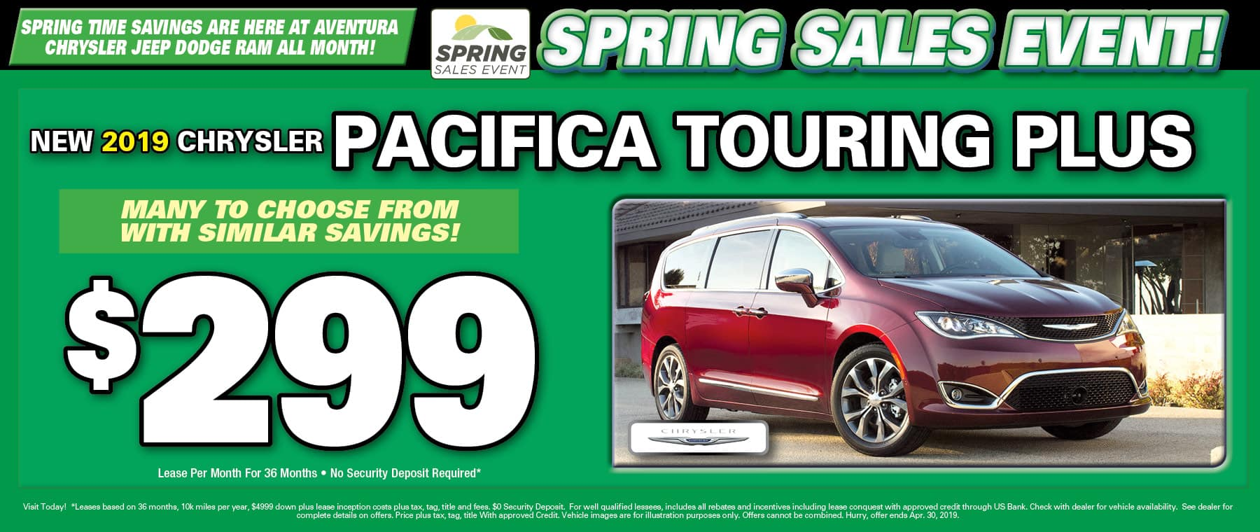 2019 Chrysler Pacifica Touring Plus!