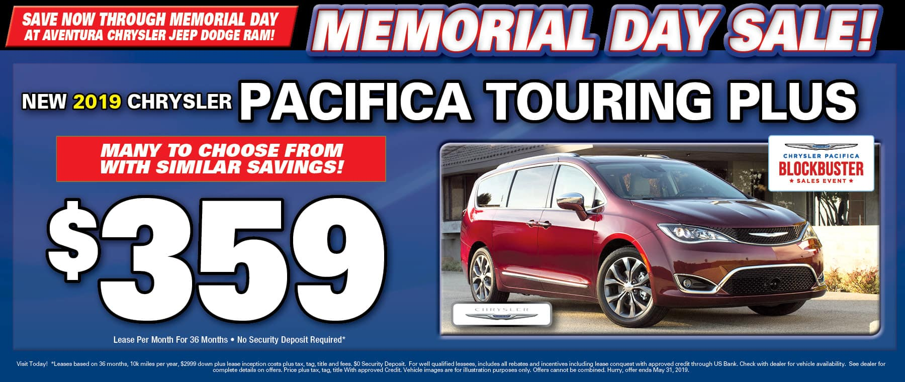 Chrysler Pacifica Touring Plus!