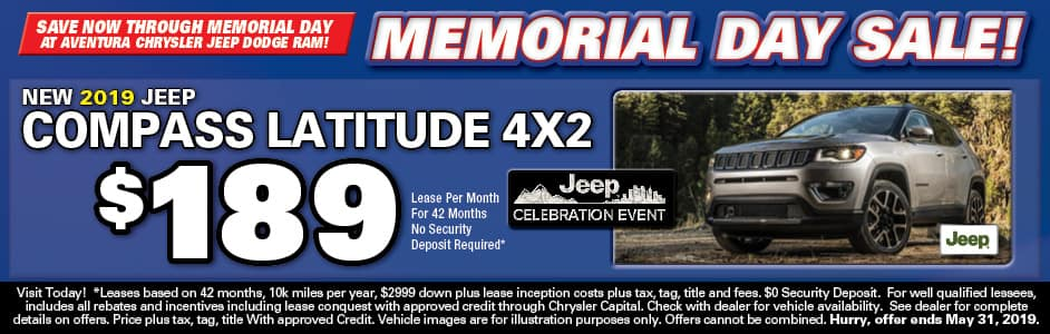 Aventura Jeep Compass Lease Special!
