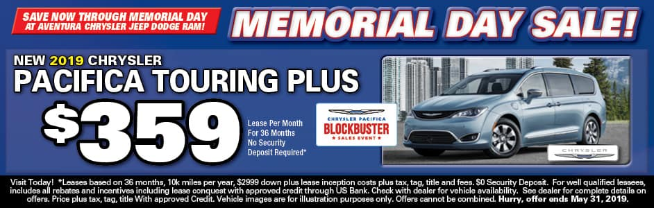 Aventura Chrysler Pacifica Touring Plus Lease Special!