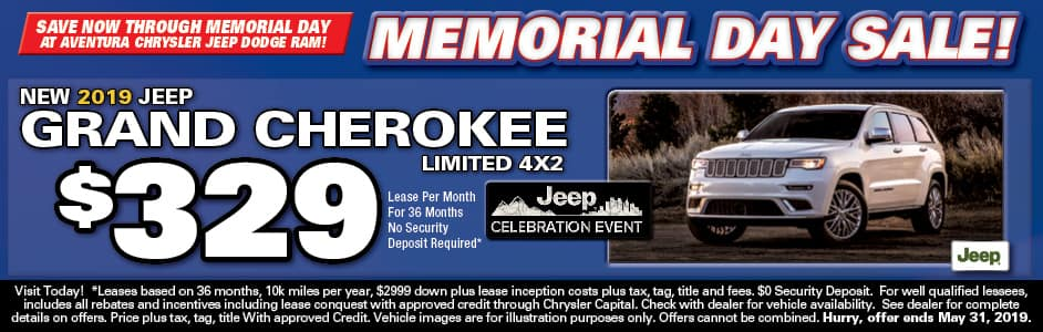 Aventura Jeep Grand Cherokee Lease Special!