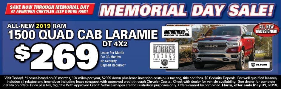 Aventura Ram Quad Cab Lease Special!