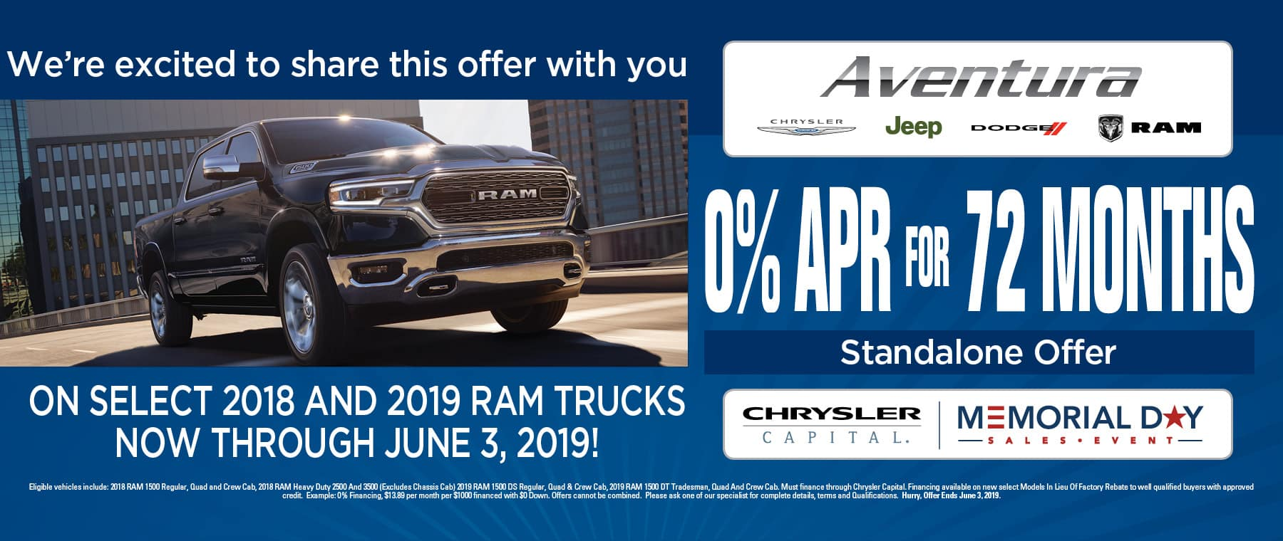 Just Announced! - 0% Financing Available On Ram Trucks!