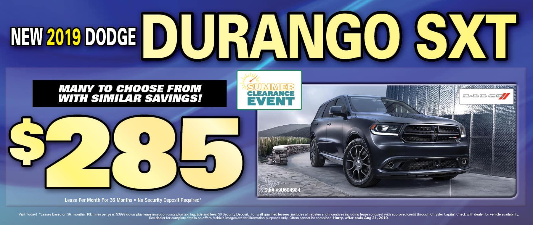 2019 Dodge Durangos